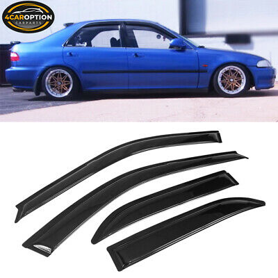 For 92-95 Honda Civic Sedan Acrylic Window Visors 4Pc Set