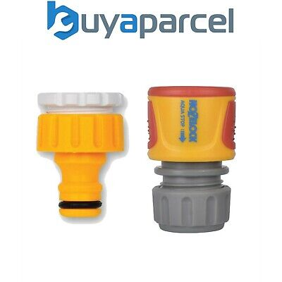 """Hozelock Threaded Outdoor Tap Hose End Connector 2175 3/4"""" & 1/2"""" 2185 Waterstop"""
