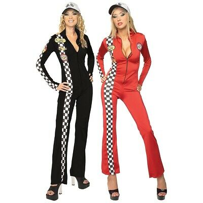 Race Car Driver Costume Adult Female Halloween Fancy Dress