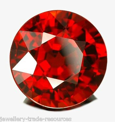 10mm ROUND NATURAL RED MOZAMBIQUE GARNET GEM GEMSTONE