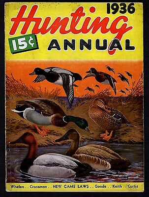 Hunting Annual Of 1936 Original Outdoor Magazine, Decorative, Displayable Color