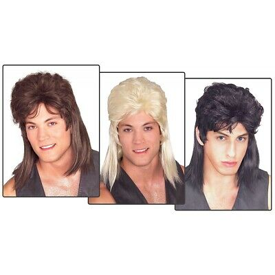 Mullet Wig Adult Mens Trailer Trash Redneck Hillbilly Funny Halloween Costume