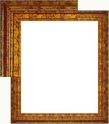 Real Natural Wood Picture Frame 24x36 Deluxe Marble Gold High Quality Open Back
