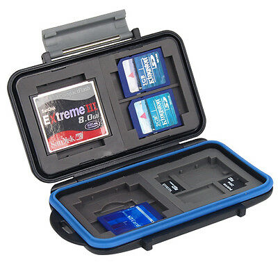 Black Hard Carry Case Memory Card Protective Travel Holder SD Cards Anti-Shock