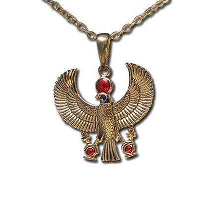 Egyptian God Horus Falcon Ankh Necklace Pendant. Top Premium Jewelry Gift J213