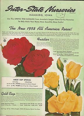 Inter-State Nurseries Hamburg Iowa Seeds/Bulbs Catalog Spring 1958