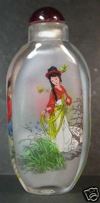 Chinese Glass Inside Painting Girl Snuff Bottle 791850