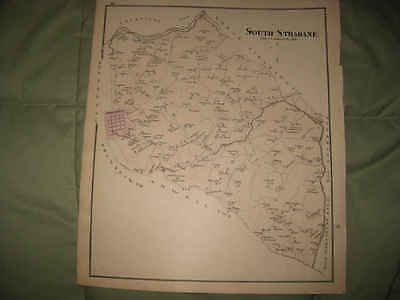 ANTIQUE 1876 SOUTH STRABANE TOWNSHIP WASHINGTON CITY COUNTY PENNSYLVANIA MAP NR