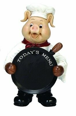 Pastry Chef Pig With Chalkboard