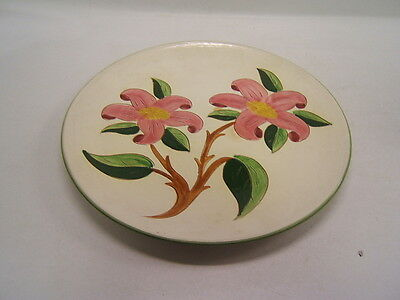 "Stangl Pottery China 12"" Chop Plate Platter ""Prelude"" Trenton NJ USA Pink Flower"