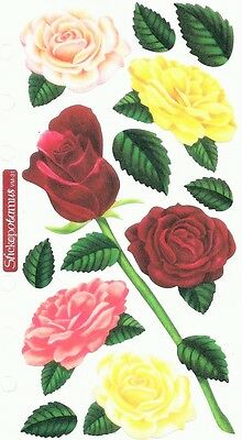 Ek Success Sticko Stickers - Floral, Flowers Garden, Roses