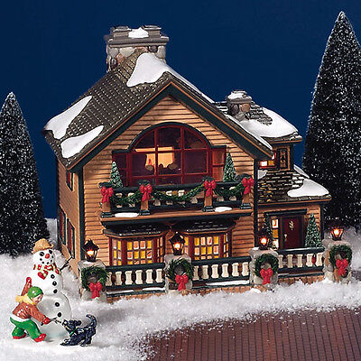 Department 56 Christmas Lake Chalet 56.55061