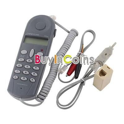Fashion Telephone Phone Butt Test Tester Lineman Tool Cable Set Scientific