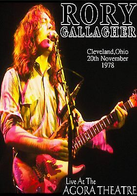 Rory Gallagher  Cleveland,Ohio,The Agora Theatre 1978 Poster Print Repro..