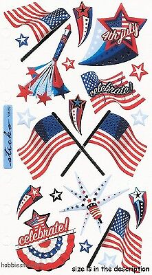 Ek Success Sticko Stickers - Usa United States America Flags Stars - 4Th Of July