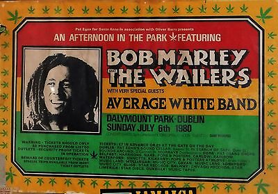 Bob Marley&The Wailers-Dalymount Park,Dublin,Ireland 06/07/1980 concert poster