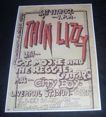 THIN LIZZY-Rocktober Tour-Liverpool Stadium 11th Oct..1975-Vintage Poster repro.