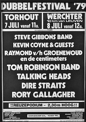 Rory Gallagher '79-Tourhout,Rock Blues Festival,Werchter concert poster