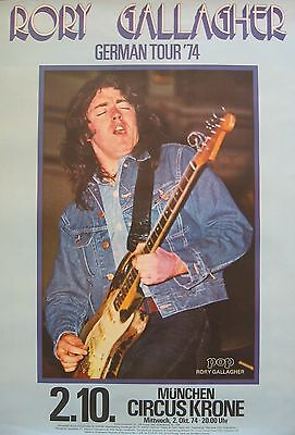 Rory Gallagher-German Tour '74 concert poster