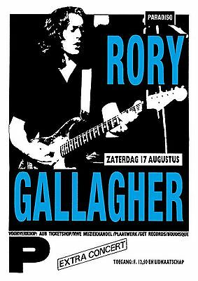 RORY GALLAGHER Paradiso Amsterdam,Sat..August 17th 1985 concert poster