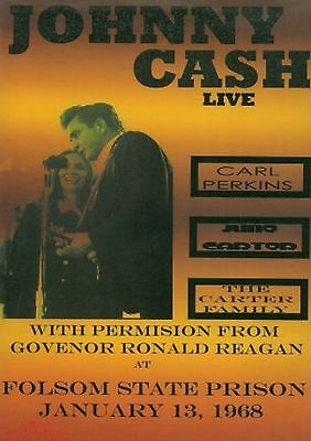 Johnny Cash-Folsom State Prison,January 13th 1968 concert poster repro..