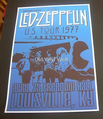 Led Zeppelin-US Tour 1977-Freedom Hall,Louisville KY- Poster Repro..