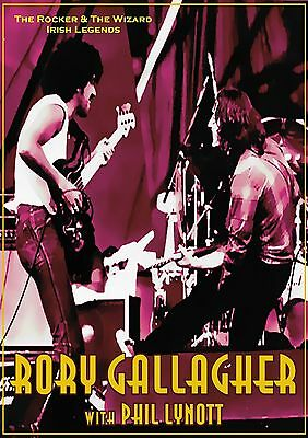 Rory Gallagher with Phil Lynott-Irish Legends-Poster Repro..