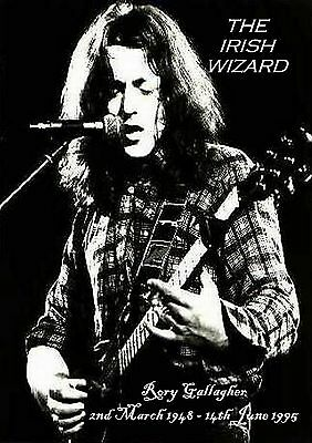 Rory Gallagher-The Irish Wizard- Tribute Poster print