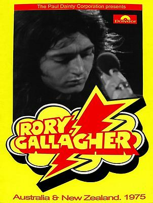 Rory Gallagher-Australia & New Zealand 1975 concert poster
