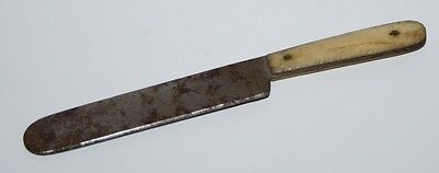 altes Messer, Horngriff, Metall, ca. 1920/30,  9,0cm, Puppenstube