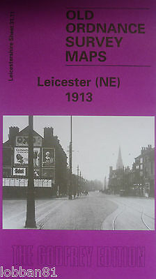 Old Ordnance Survey Maps Leicester NE Leicestershire 1913 Godfrey Edition New