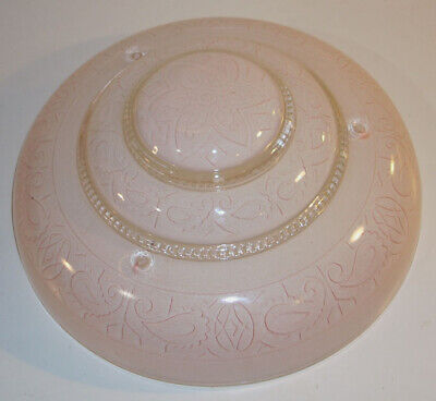 Lovely Vintage Art Deco Glass Ceiling Light Shade