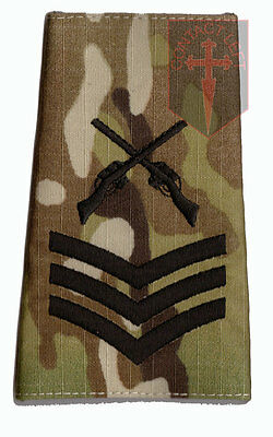 SGT Black on MULTICAM MTP SAA  Rank Slide Sergeant ( Skill At Arms Instructor