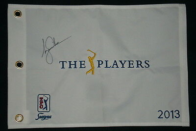 Tiger Woods Autographed 2013 Players Championship Golf Flag (W/ Proof!)
