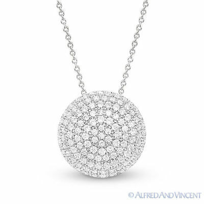 f7115b9774876a Circle Charm Micro-Pave Cubic Zirconia CZ Crystal Pendant in 925 Sterling  Silver