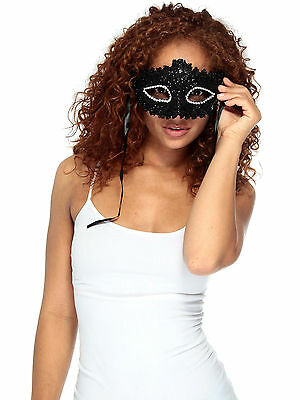 Women Venetian Feathered Sheer Lace Masquerade Costume Party Mask with Flower