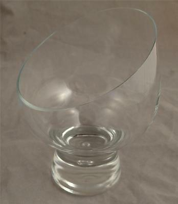 SET OF 8 MID CENTURY STYLED LIBBEY GLASS 390 CONTROLED BUBBLE GLASSES