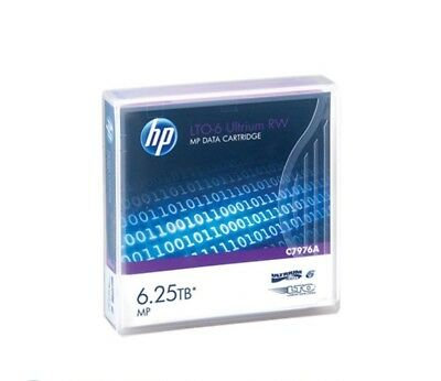 10x HP LTO-6 Ultrium 2.5TB / 6.25TB RW Data Cartridge P/N: C7976A