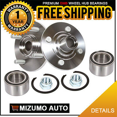 2 New Front Left and Right Wheel Hub Bearing Assembly Pair w/o ABS GMB 730-0175