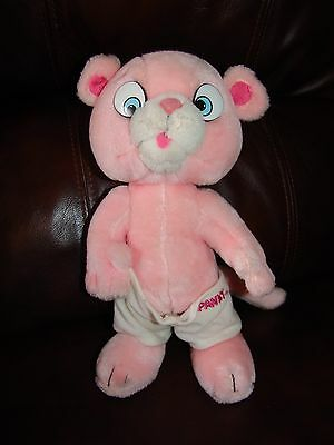 Vintage 1984 Mighty Star Pink Panther and Sons Panky Plush Doll 10 1/2""