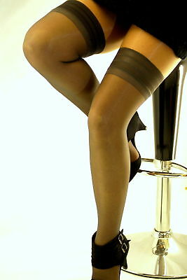 Soft Shine Plain Top Hold Ups Stock Clearance