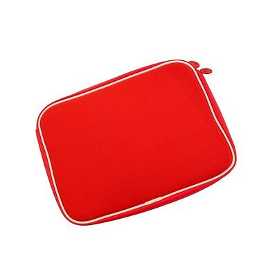 "Funda de Policarbonato de 10"" para Tablet iPad 1 2 3 Notebook PC Portatil Roja"