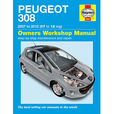 New Haynes Manual Peugeot 308 Petrol & Diesel 07 - 12 Workshop Repair Book 5561