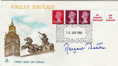 MARGARET THATCHER personally signed Great Britain FDC