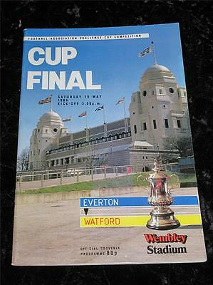 FA CUP FINAL FOOTBALL PROGRAMME EVERTON v WATFORD 1984