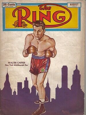 1951 (Aug.) The Ring Boxing magazine, Walter Cartier New York Middleweight Star