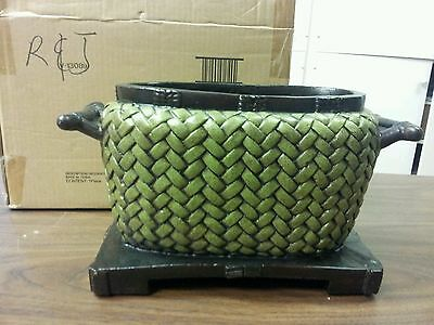 NEW!! HOME INTERIORS  OVAL ASAIN  PLANTER-USE INDOOR OR OUT