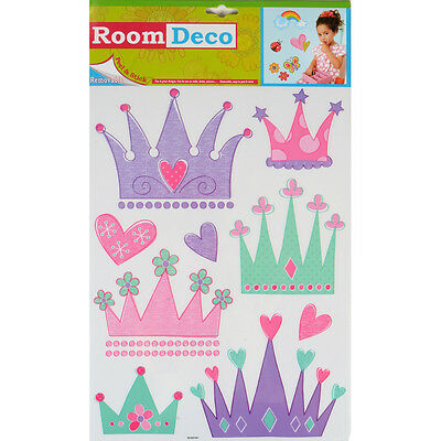 Wholesale Job Lot 48 Packs New Room Decor Removable Wall Stickers Princess Crown