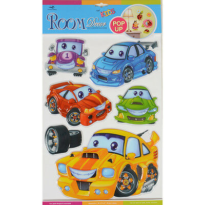 Wholesale Job Lot 72 Packs Cars Pop Up Removable Room Decor Wall Stickers