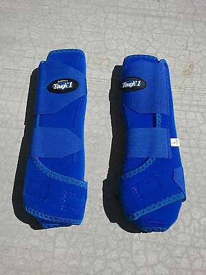Tough-1 Extreme Vented Sport Protection FRONT ROYAL BLUE SMB Boots - ALL SIZES